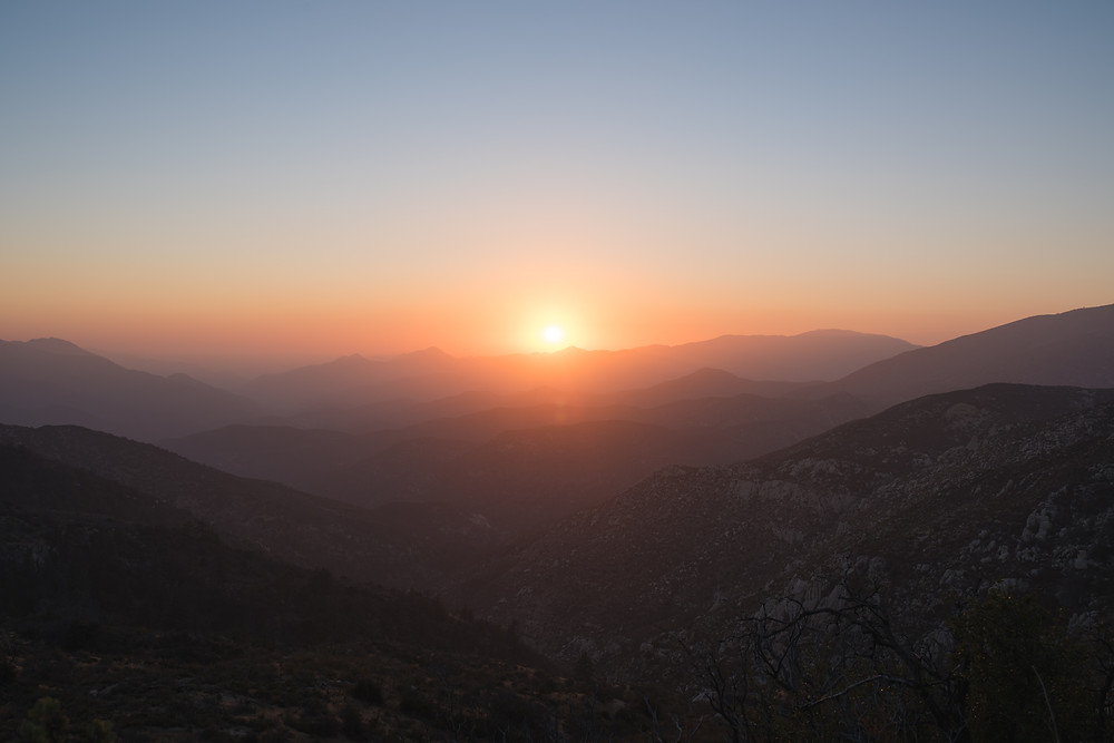 Sunset, Angeles National Forest, Magic Hour, Mountains, Golden Hour