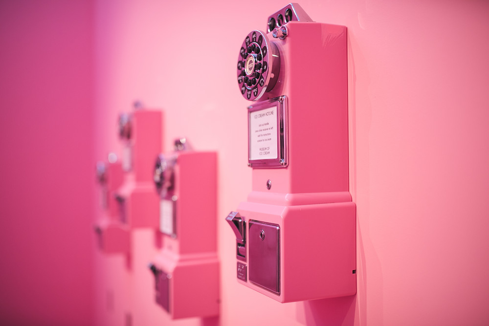 Pink, Rotary Phone, Museum of Ice Cream, Photographer, Photography