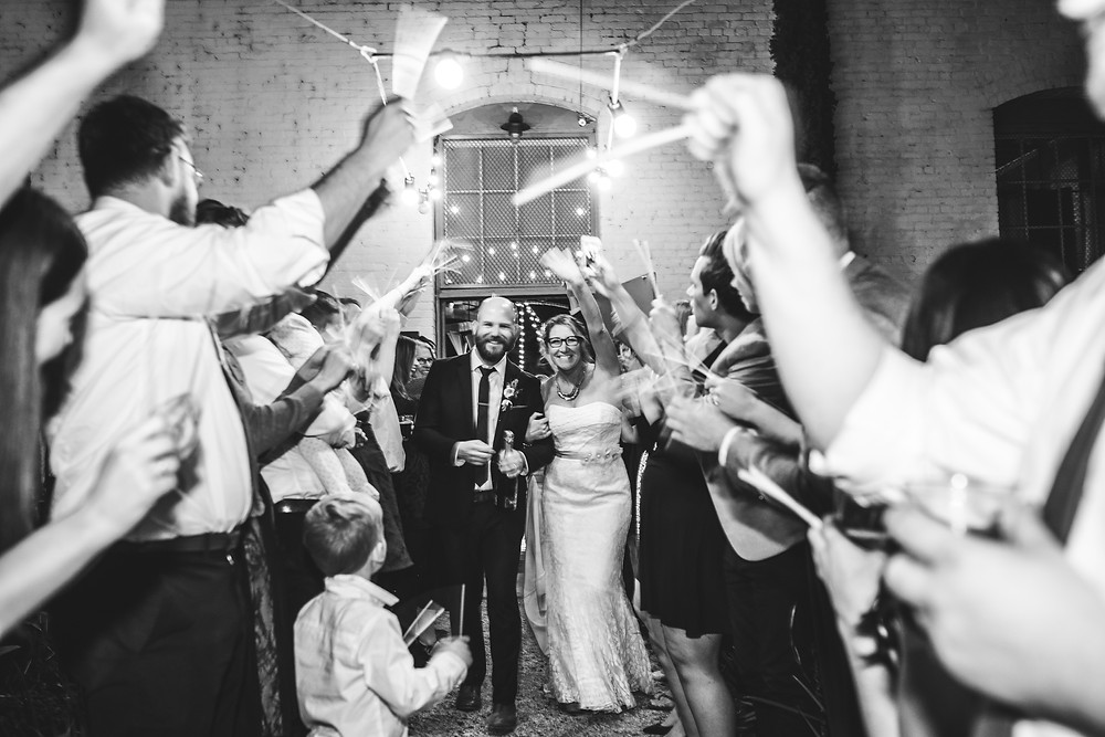 wedding photographer, wedding photography, huron substation, Los Angeles, Married, Wedding, glow sticks