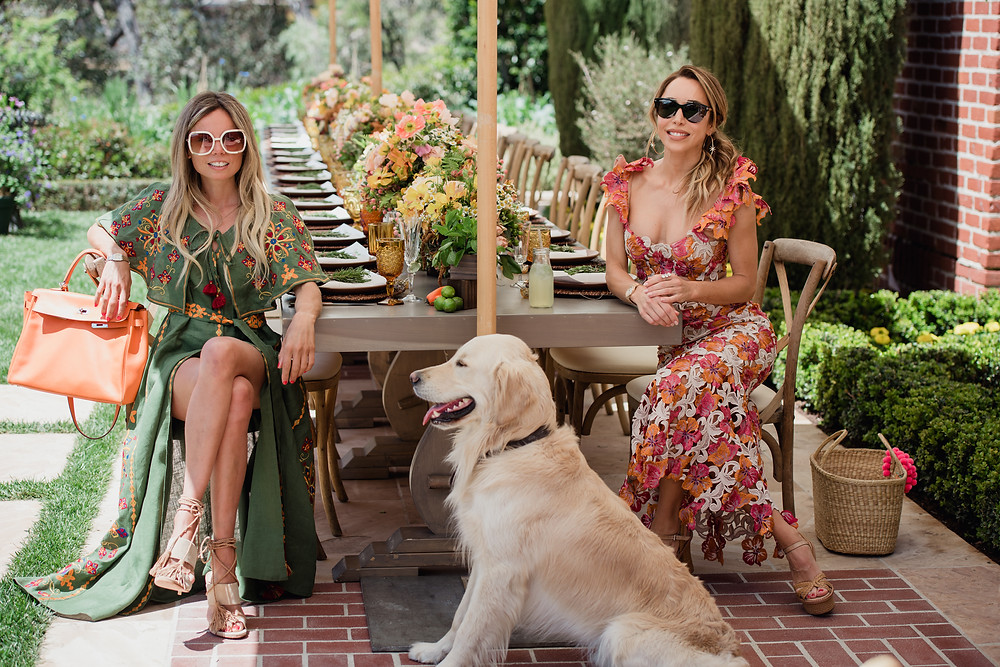 garden party, picnic, erica pelosini, katia francesconi, cashmere, style, fashion. Beverly Hills, guest of a guest