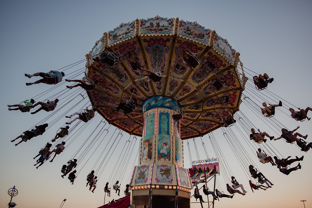 CNE, Swings, Fair, Carnival, Rides, Sunset, Photography, Fun, Adventure