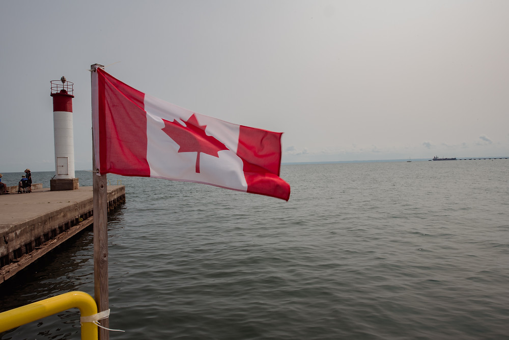 Canada, Canadian flag, Lake Ontario, Lighthouse, Canadian, Maple Leaf, Ontario, home sweet home