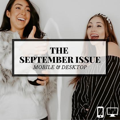 THE SEPTEMBER ISSUE | DESKTOP + MOBILE
