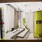 Quick sketch of a bathroom