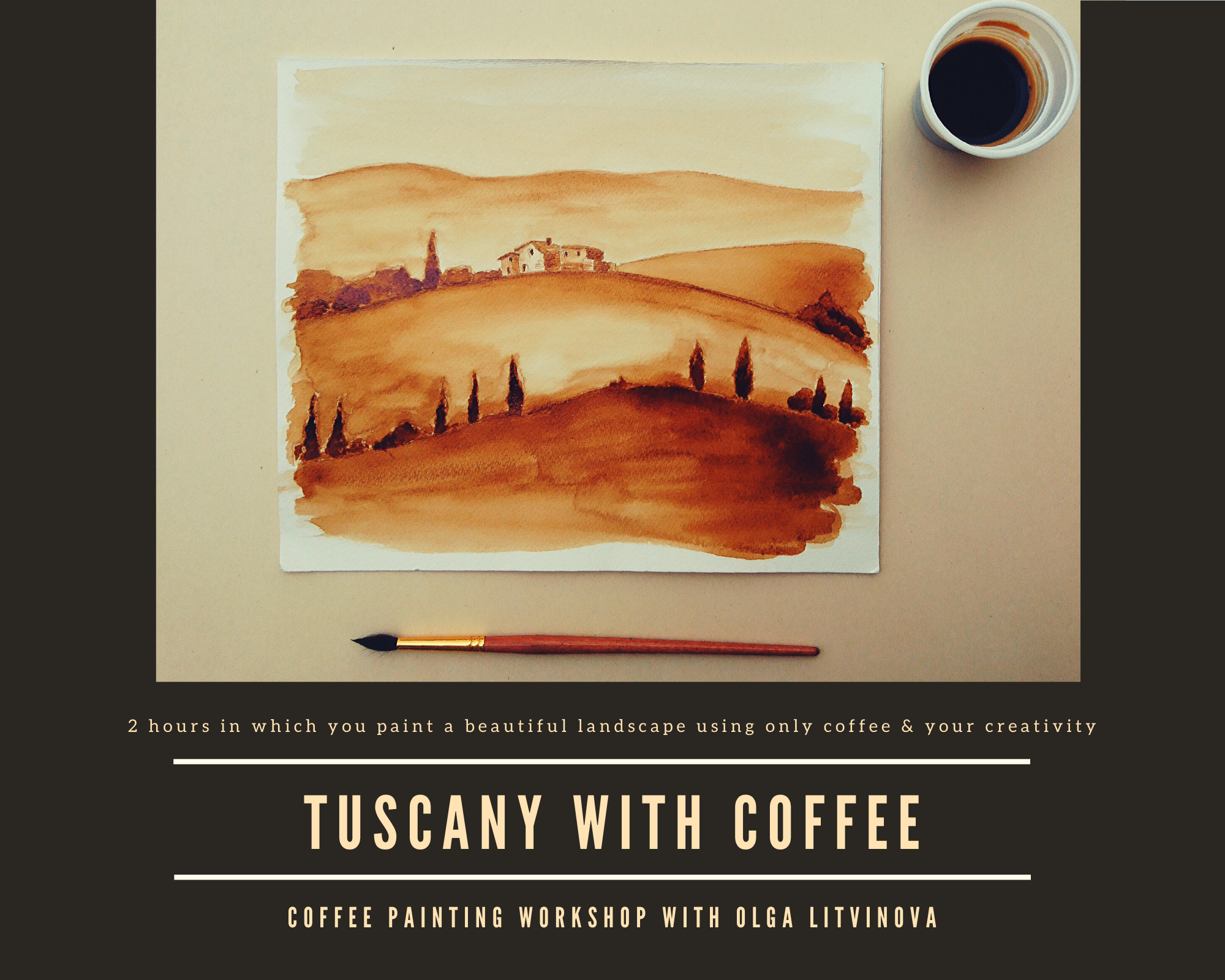 Tuscany with coffee