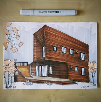Architectural quick sketch
