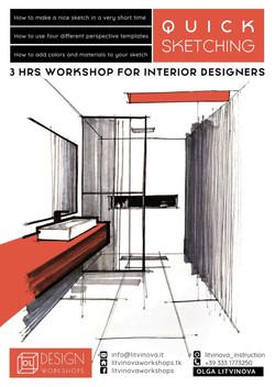Quick sketching for interior design