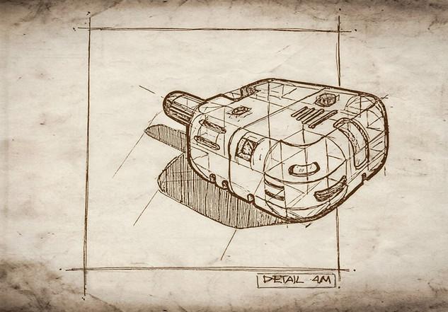 Detail sketch of a receiver