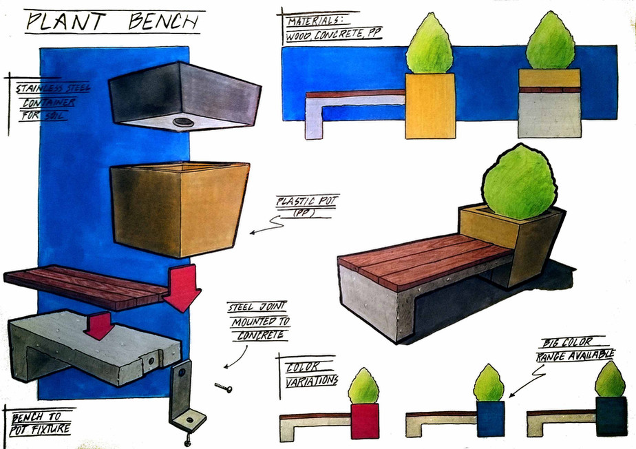 Concept of a bench