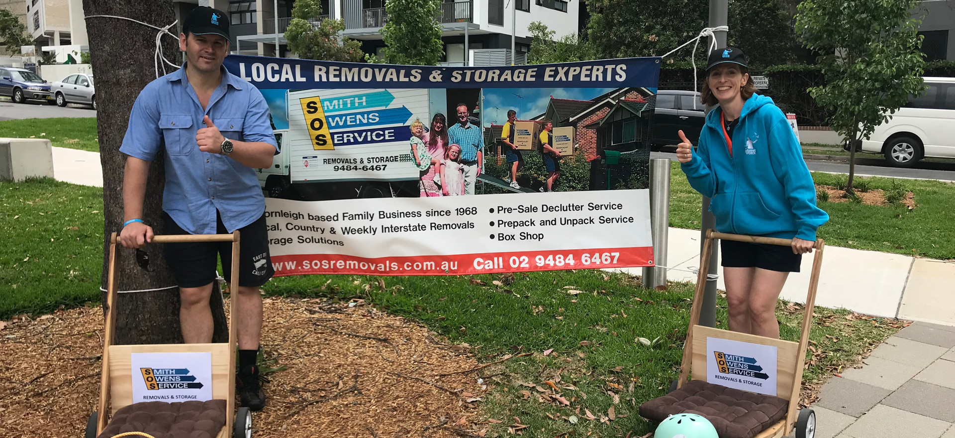 Thank you for your support SOS Removals and Storage