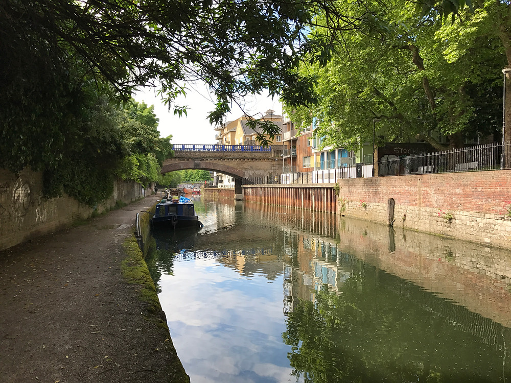 The Limehouse Cut.  Very close to where Charles Robert Owen Jarvis went to school.
