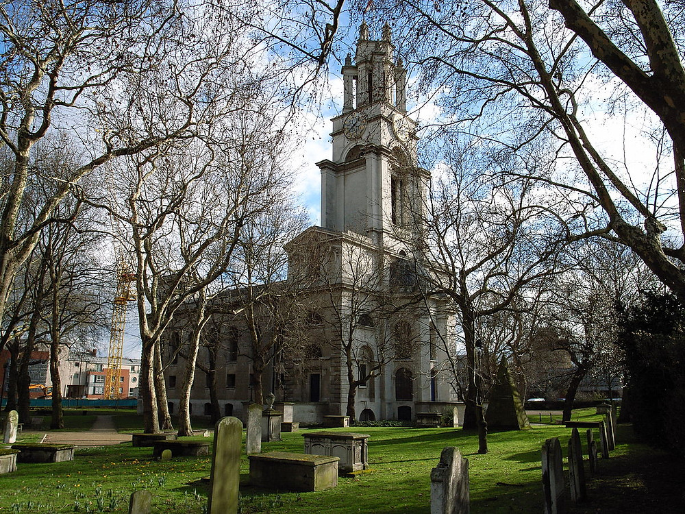 St Anne's Limehouse: This is where they should have married, as they lived in the parish,  But it was not to be.