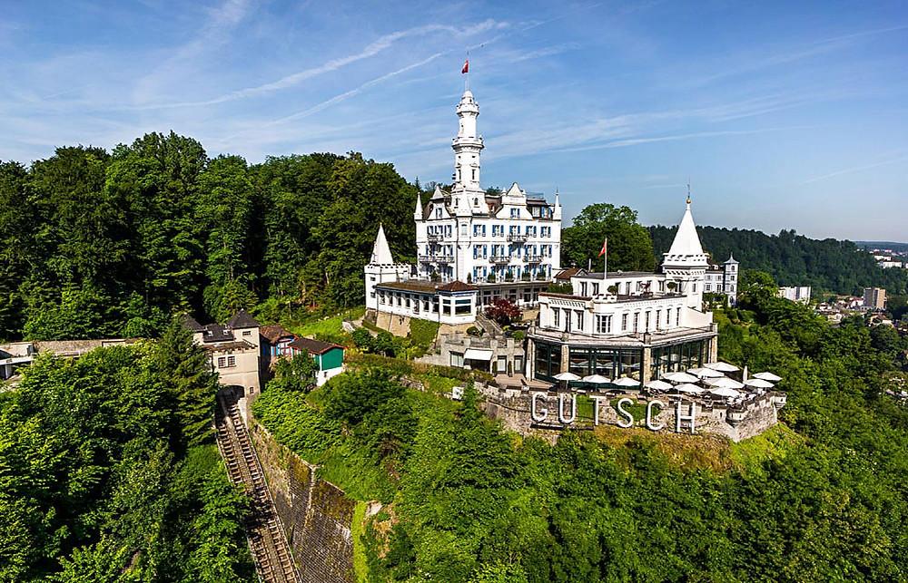 Chateau Gutsch - our hotel in Lucerne Switzerland.