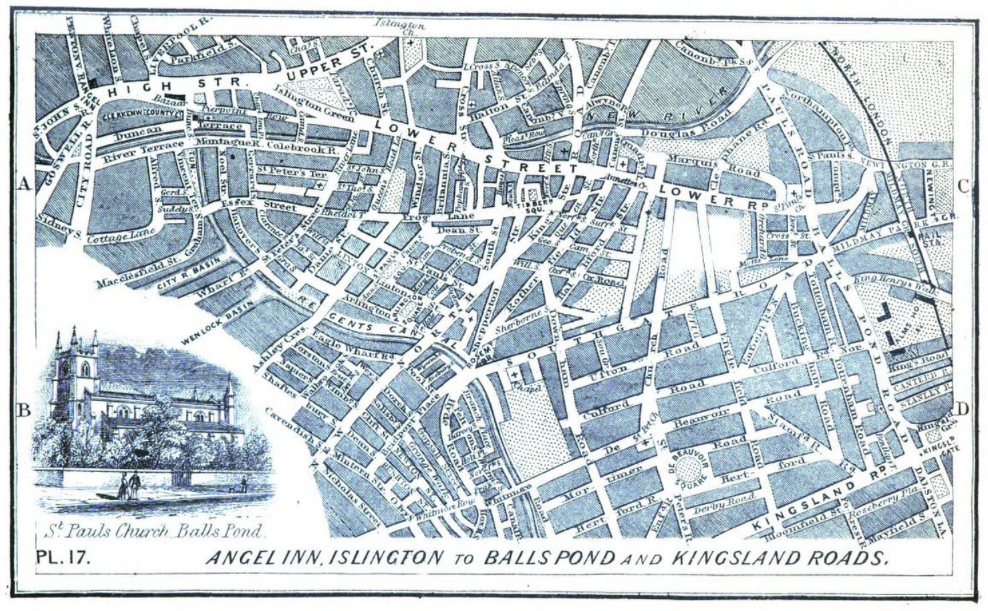 Shepperton Street is dead center of this turn of the century map.