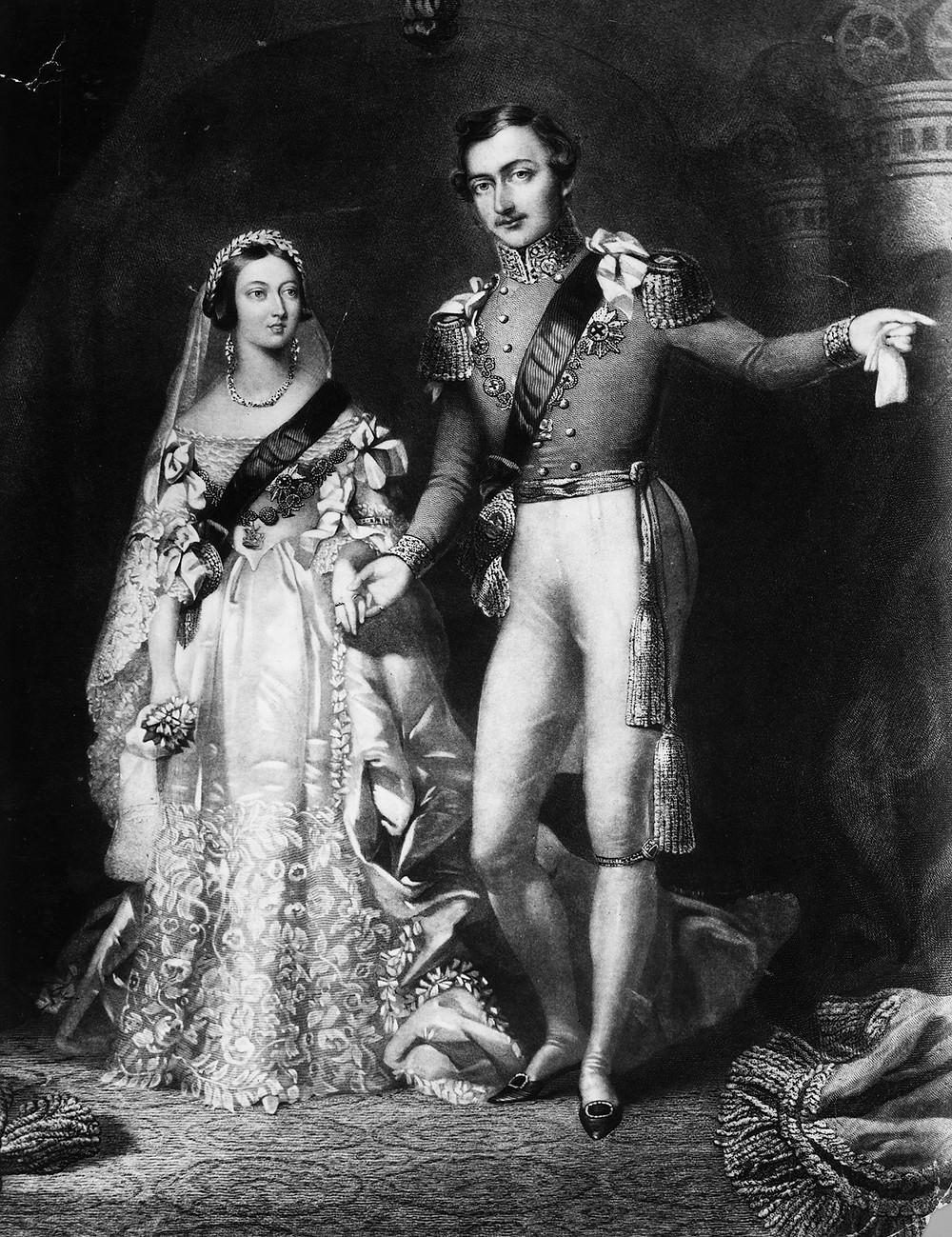 Victoria and Albert. 1840