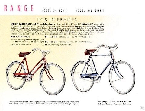A Raleigh bike just like Dad owned