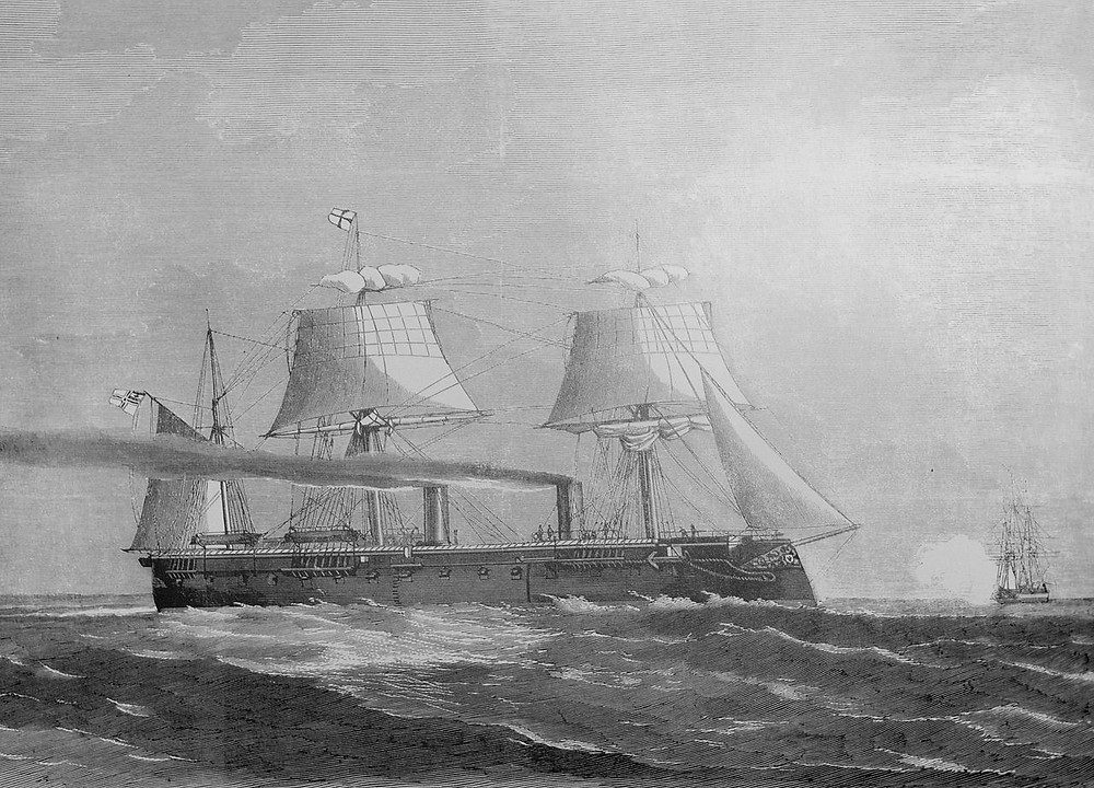 SMS Kronprinz in service for the Prussian Navy