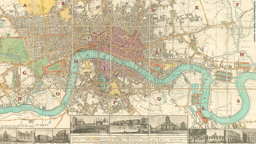 Map of London from 1840.  Limehouse is right on the fringe of London.