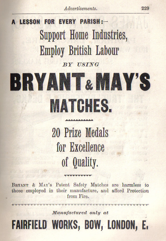 Bryant & May's were a big employer of women
