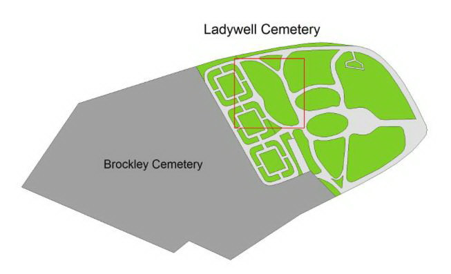 The grave map for Maria Jarvis