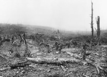The remains of the village of Beaumont Hamel after the Battle of Ancre