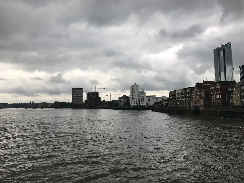 Looking south down the eastern side of the Isle Of Dogs
