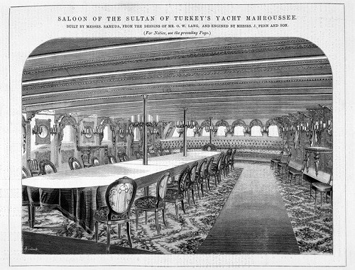 An artists rendition of the inside of El Mahroussa, one of Charles Jarvis's projects at Samuda.