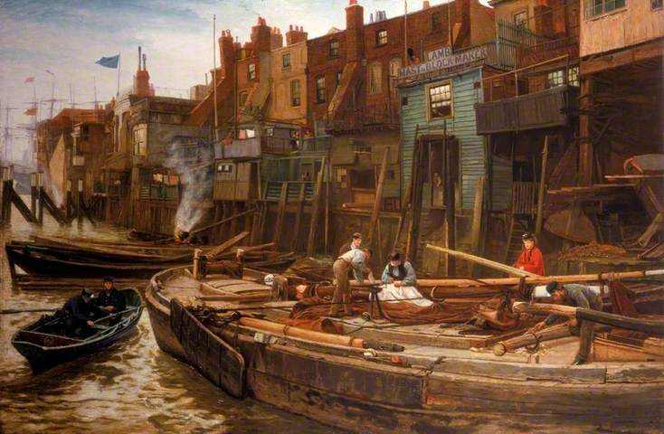 George And William Lamb were mast makers in Limehouse, 1850.   Charles Jarvis served his apprenticeship at a similar business - Joseph King -  that made boats.