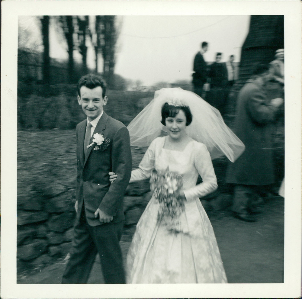 Mum and Dad get married at Eston Church.  March 1962.