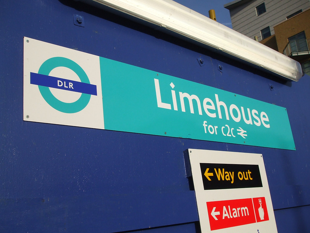 Limehouse Station on the Docklands Light Railway.  Where it all began for my great great grandfather