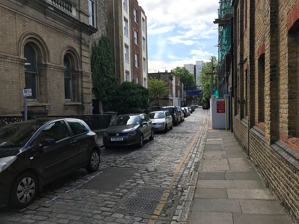 Copenhagen Place.  Site of Limehouse National School in the 1840s