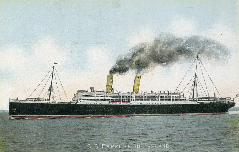 The ill-fated Empress Of Ireland - it sank in the St. Lawrence Seaway on May 29th 1914, killing more than 1,000 people.