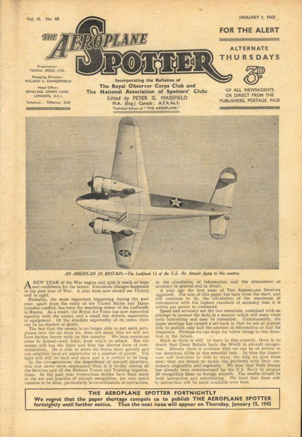 Aeroplane Spotter Magazine - Dad would read his brother's copy from cover to cover.