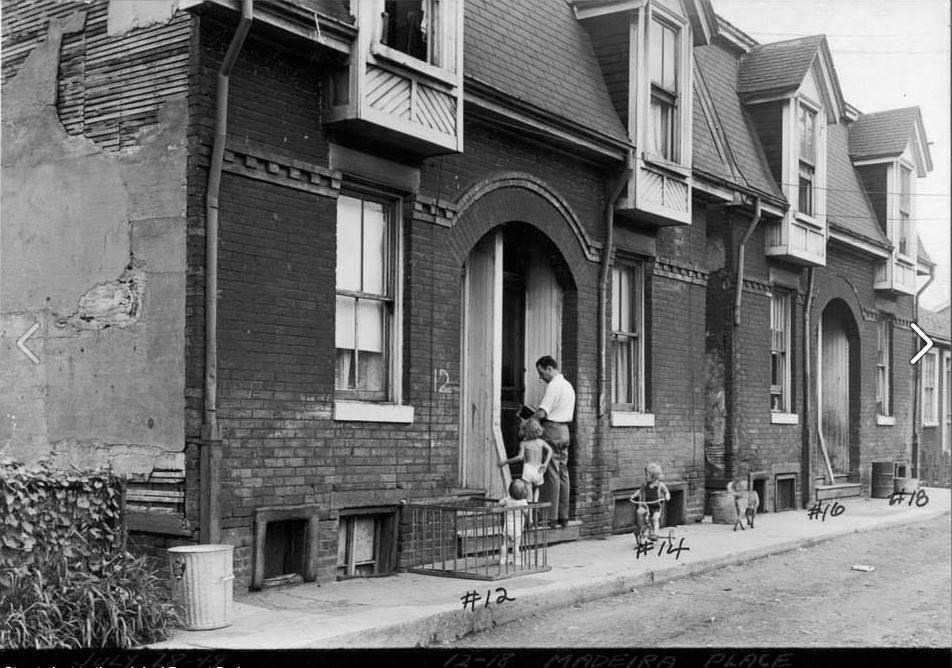 14 Madiera Place, Toronto.  This photo was taken in the 1950s.