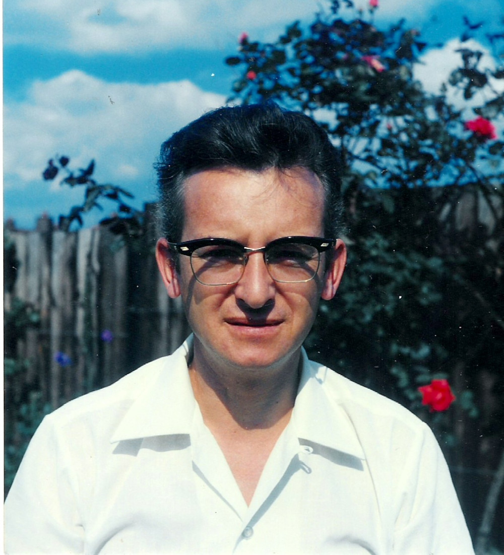 Dad in Eston, 1970 during our summer holiday prior to going to live in Kuwait.