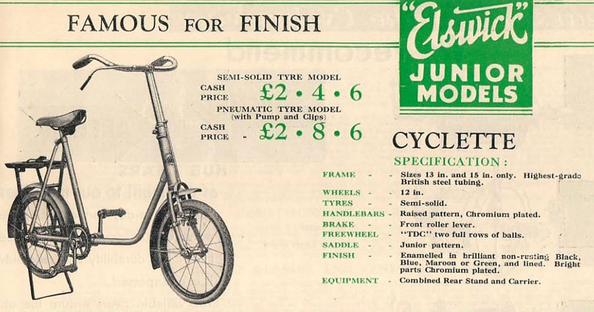 An Elswick Junior bike, just like Dad owned.