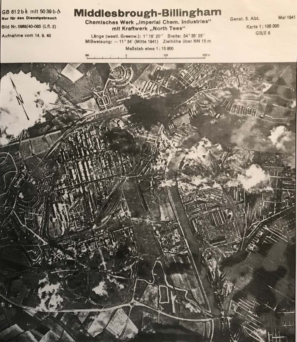 A German reconnaissance photo of Middlesbrough from the war.