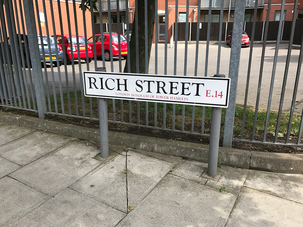 Rich Street.  Birthplace of Charles Robert Owen Jarvis.