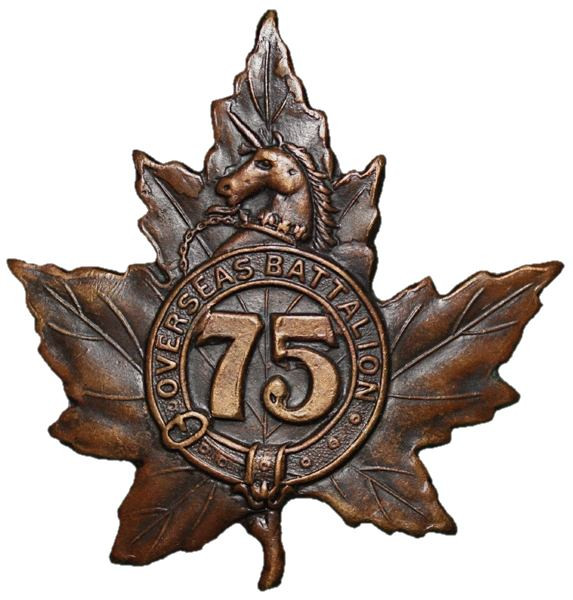 The badge of the 75th Battalion
