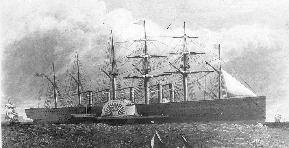 The SS Great Eastern - The struggle to launch it on the Thames illustrated that the river was not necessarily the best place to build ships.