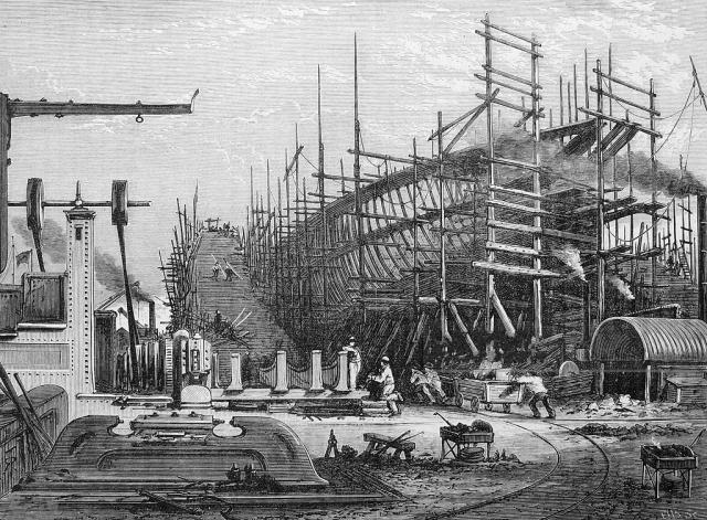 The Samuda Shipyard On The Isle Of Dogs