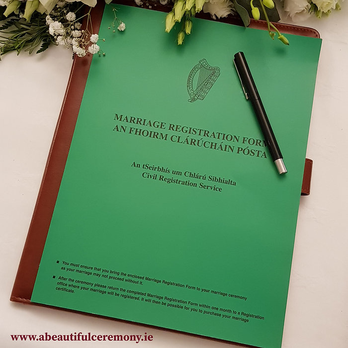 Getting Married in Ireland Romy McAuley Wedding Celebrant Solemniser Civil Ceremony Ireland