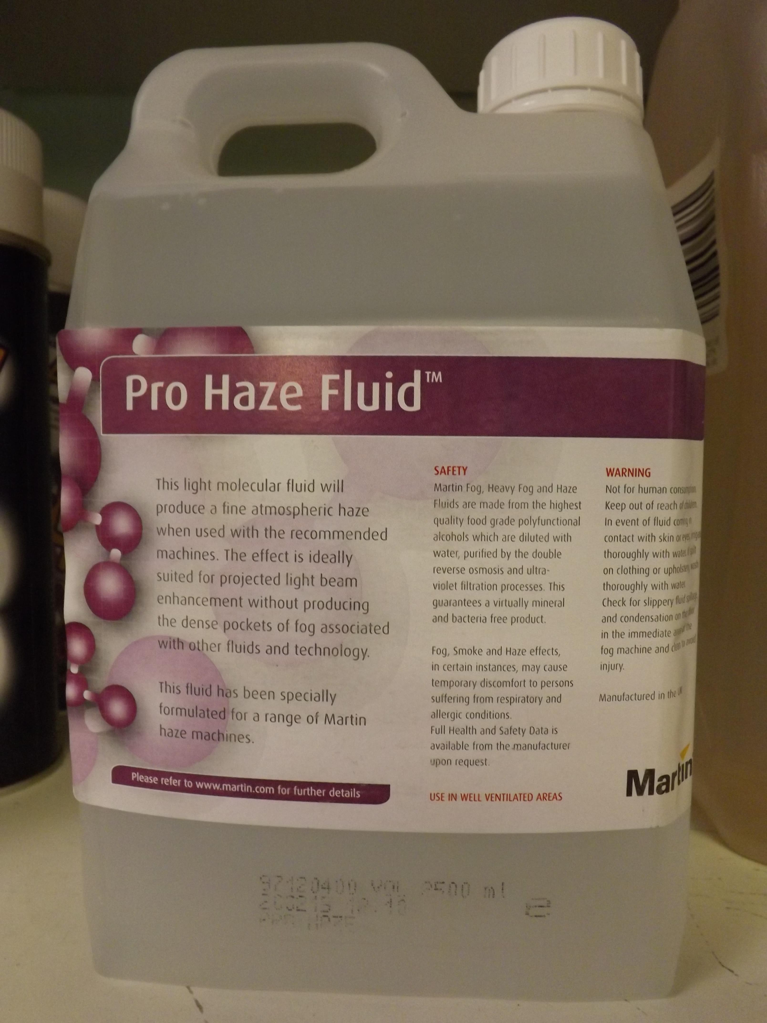 Pro Haze 2.5 ltr Jem/ Martin £28.95