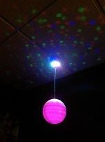 light up mirror ball £25.00