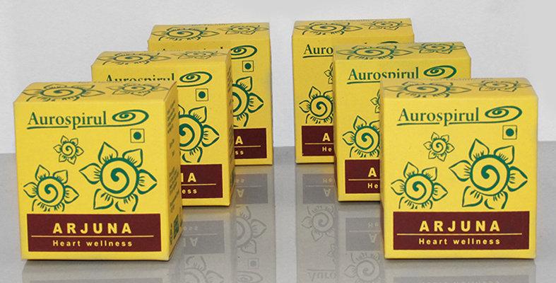Aurospirul organic certified Arjuna capsules 6-pack - 6 x 100 capsules