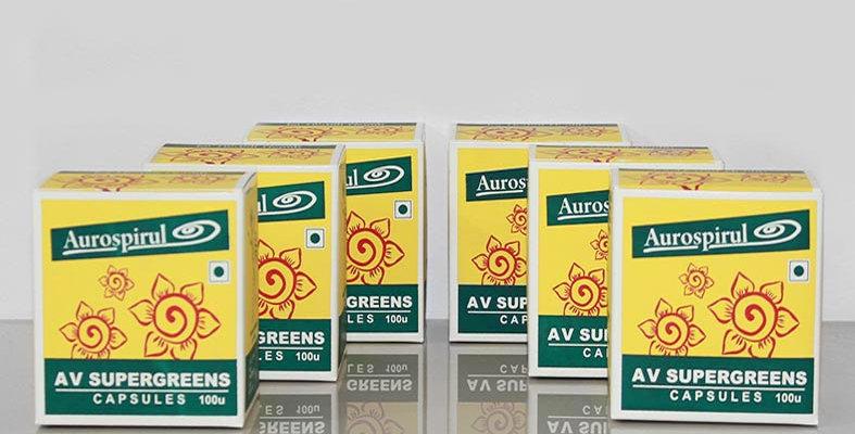 Aurospirul Av Supergreens capsules 6-pack - 6 x 100 capsules