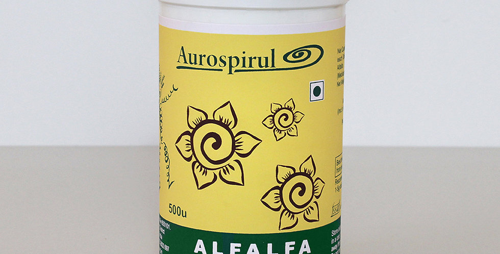 Aurospirul Organic certified Alfalfa Tablets 500 units
