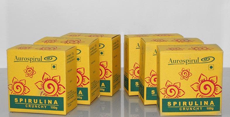 Aurospirul Sun dried spirulina crunchy 6-pack - 6 x 100g