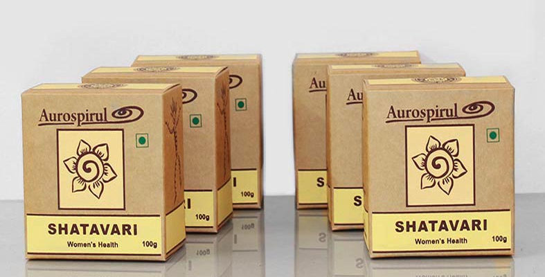 Aurospirul organic certified Shatavari powder 6-pack - 6 x 100g