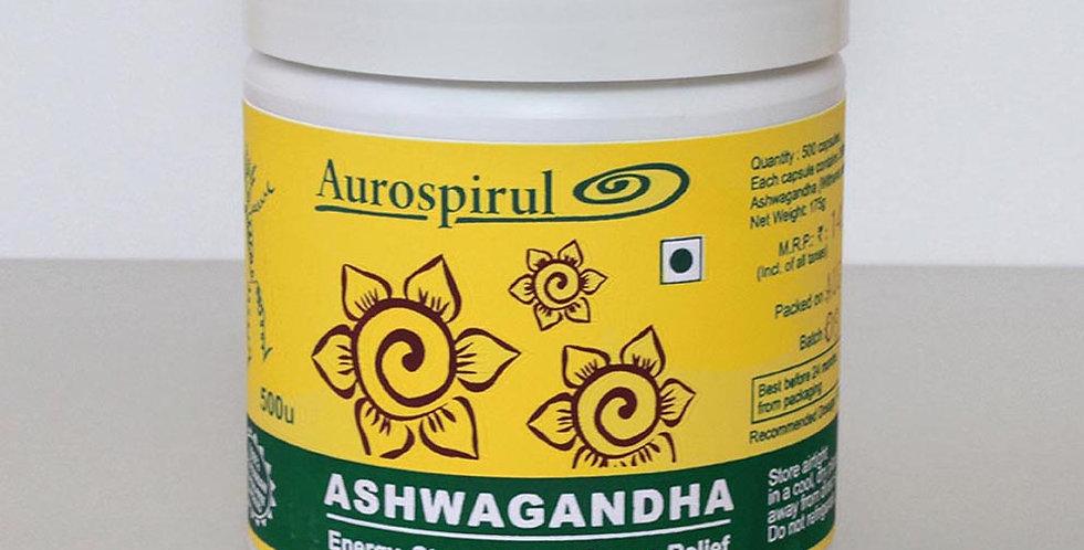 Aurospirul organic certified Ashwagandha - 500 Veg Capsules